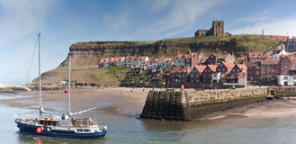 Whitby Town and Harbor Stock Photo