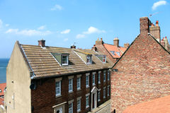 Whitby town houses Royalty Free Stock Image