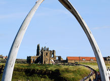 Whitby view of abbey Royalty Free Stock Photography