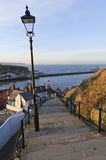 Whitby Village Stock Photo