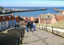 Whitby visitors Royalty Free Stock Photography