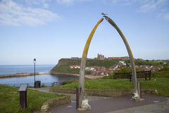 Whitby. Walbones above the harbour of Whitby Royalty Free Stock Images