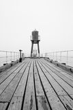 Whitby West Pier lighthouse Royalty Free Stock Images