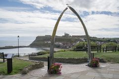 Whitby Whale Jawbone Arch Royalty-vrije Stock Afbeelding