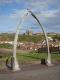Whitby Through the Whalebones Stock Image