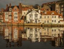 Whitby Yorkshire, England - hem Royaltyfria Foton