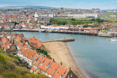 Whitby in Yorkshire stock photo