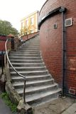 Whitby Yorkshire. Steps and brick wall Whitby Yorkshire Stock Photo