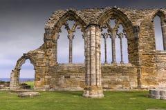 WhitbyAbbey de Inglaterra Fotos de archivo libres de regalías