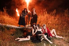 Whitches coven stock photography