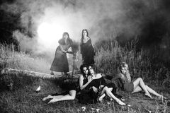 Whitches coven royalty free stock photography