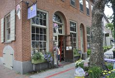 Salem, MA, 1st June: Whitches shop downtown of Salem in Essex county Massachusettes state of USA royalty free stock images