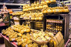 Ferrero Rocher on sale. Whitchurch, Bristol, UK - November 19, 2016:  Ferrero Rocher on sale in Whitehall  garden centre, near Lacock in Wiltshire, United Royalty Free Stock Photography