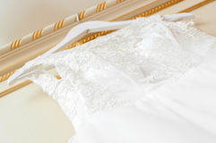 white ślubny sukienkę obrazy stock