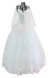 white ślubny sukienkę Fotografia Stock