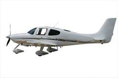white śmigłowy pojedynczy samolot Fotografia Stock
