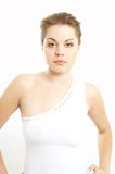 White. Hi-key image of lady in white Royalty Free Stock Image