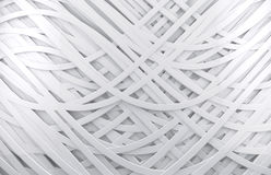 White 3d abstract background. White 3d abstract spiral and lines background vector illustration