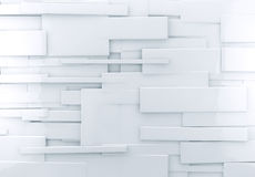 White 3d abstract background. Abstract architectural,White abstract wall with shiny cubes Royalty Free Stock Photos