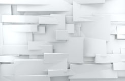 White 3d Abstract Background Royalty Free Stock Photography