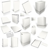White 3d blank cover collection Stock Images