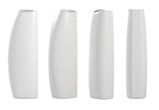 White 3d containers. 3d render of different views white container templates Stock Photography