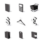 White 3D icon set 06. High detailed 3D vector icon set Royalty Free Stock Images