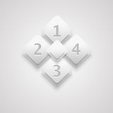 White 3D infographic Royalty Free Stock Photography