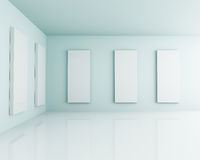 White 3D Interior Room Studio Stock Image