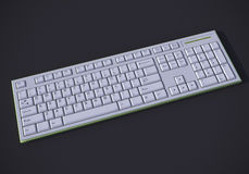 White 3D keyboard Stock Photos