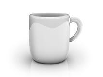 White 3d mug Stock Image