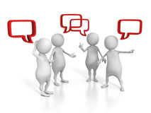 Free White 3d People Talking With Speech Bubbles Stock Images - 55217224