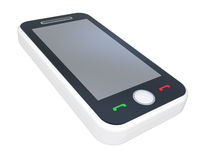 White 3D smart phone Royalty Free Stock Photo