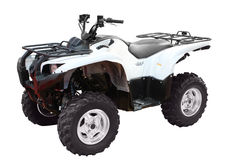 White 4x4 atv isolated Stock Images