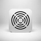 White Abstract App Icon Template Stock Images