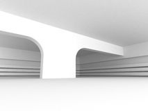 White Abstract Architecture Background With Column Stock Photography