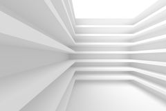 White Abstract Architecture Background. 3d Illustration of White Abstract Architecture Background. Building Blocks Royalty Free Stock Image