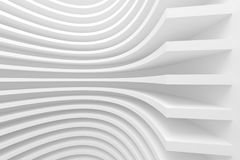 White Abstract Architecture Background. 3d White Abstract Architecture Background. Modern Minimal Design Stock Image