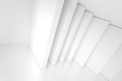 White Abstract Architecture Background. Modern Home Interior Stock Photos