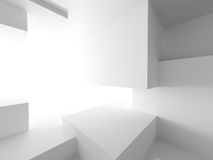 White Abstract Architecture Cubes Background Royalty Free Stock Photography