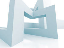 White Abstract Architecture 3d Background. 3d Render Illustration stock illustration
