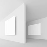White Abstract Architecture. 3d Illustration of White Abstract Architecture Background Stock Photography