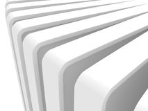 White Abstract Architecture Design Background. 3d Render Illustration Stock Image