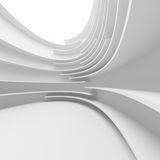 White Abstract Architecture Design. 3d White Abstract Architecture Design Stock Images