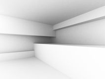 White Abstract Architecture Interior Background Stock Image