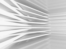 White abstract architecture stripe pattern background. 3d Render Illustration Stock Photo