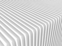 White abstract architecture stripe pattern background. 3d Render Illustration Stock Photography