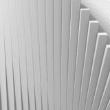 White abstract architecture stripe pattern background. 3d Render Illustration Royalty Free Stock Photography