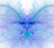 White abstract background with cold - blue, turquoise, purple -. Snow butterfly texture, fractal pattern Royalty Free Stock Photo