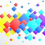 White abstract background with colourful rhombus. Vector paper illustration Stock Photo
